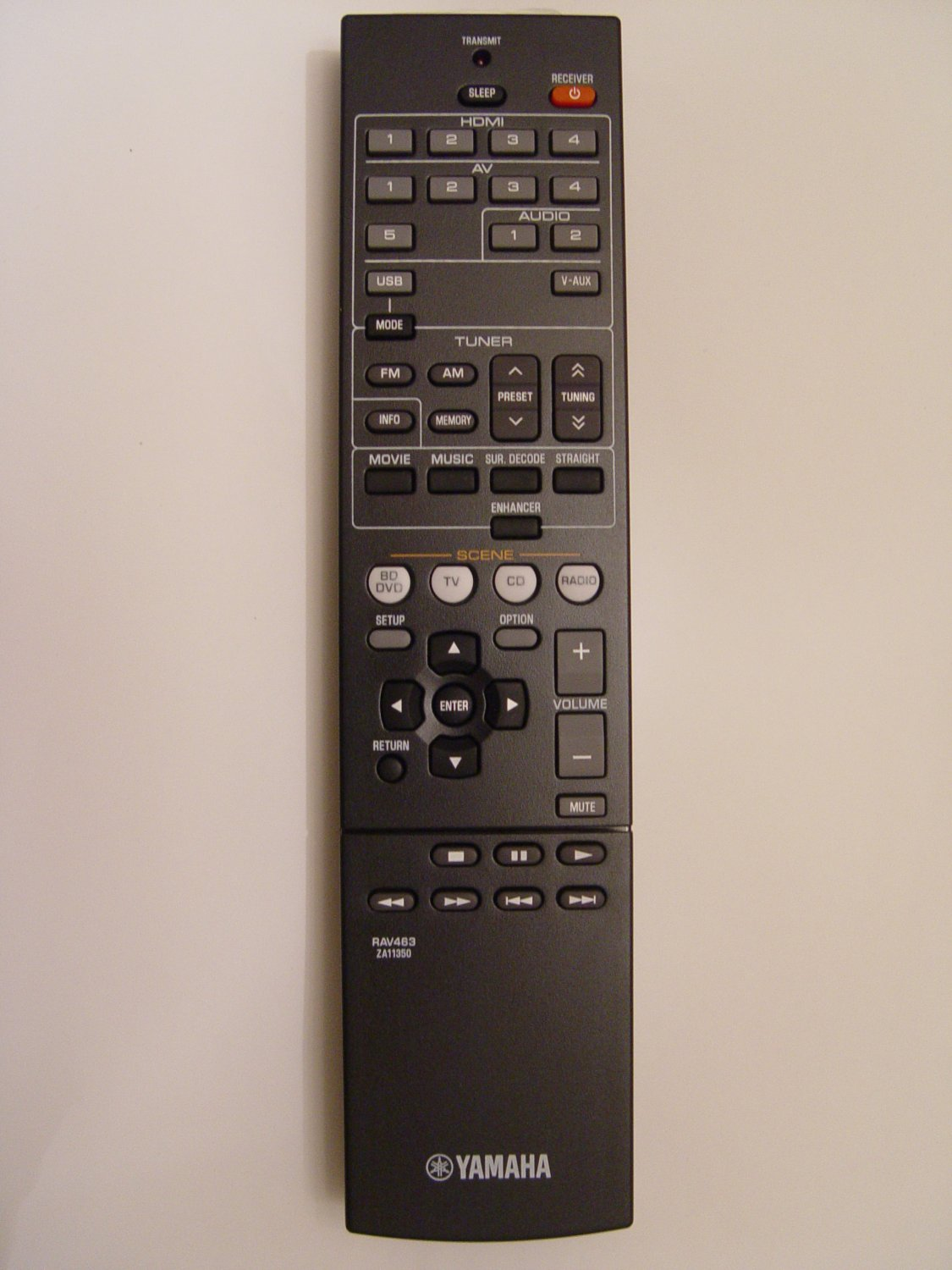Yamaha RAV463 Remote Control Part # ZA113500