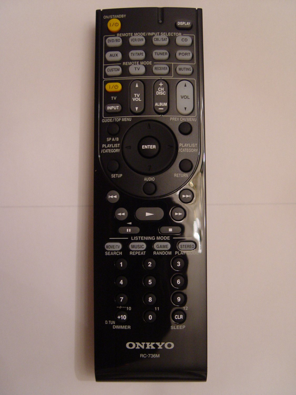 Onkyo RC-736M Remote Control Part # 24140736