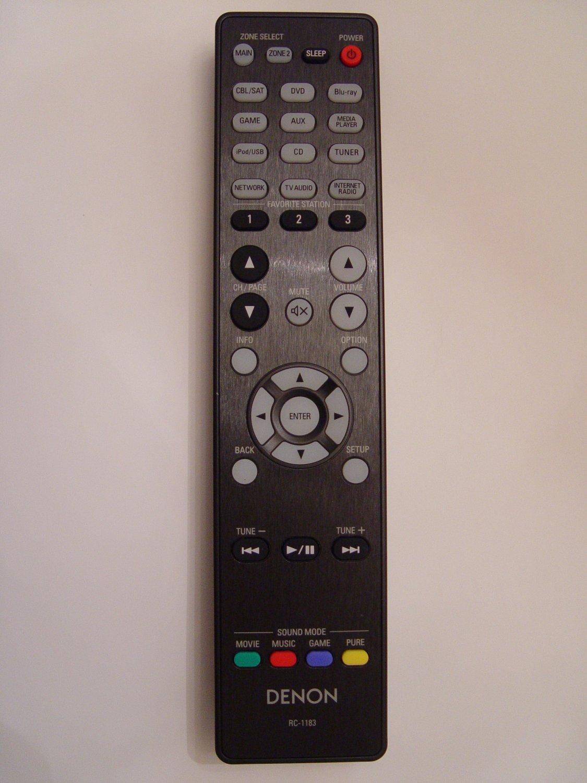 Denon RC-1183 Remote Control Part # 30701013800AD Also Sub For RC-1167