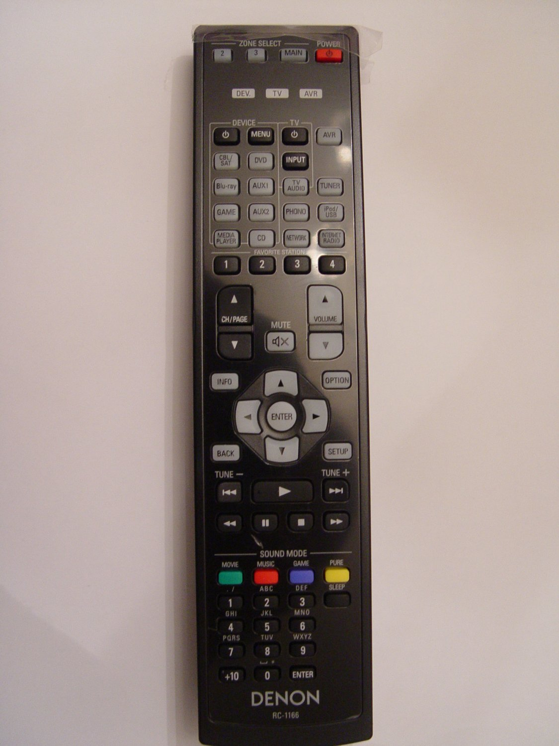 Denon RC-1166 Remote Control Part # 30701010500AD