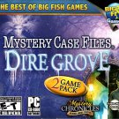 Mystery Case Files 2-Pack Dire Grove and Mystery Chronicles PC-CD - NEW in SLV