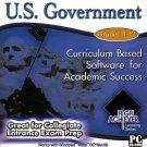 High Achiever U.S. Government (Grades 11-12) CD-ROM for Win - NEW in SLV