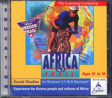 AFRICA TRAIL (Ages 10-16) CD-ROM for Win/Mac - NEW in SLEEVE