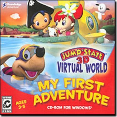JumpStart 3D Virtual World: My First Adventure (Ages 3-5) PC-CD - NEW in SLEEVE