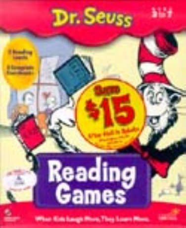 Dr. Seuss Reading Games (Ages 3-7) CD-ROM for Windows - NEW in SLEEVE