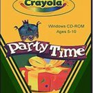Crayola Party Time! (Ages 5-10) CD-ROM for Windows - NEW in SLV
