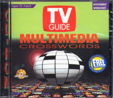 TV GUIDE MULTIMEDIA CROSSWORDS PC CD-ROM for Windows - NEW in JC