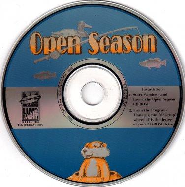 Open Season (3 Games) PC CD-ROM for Windows - NEW in SLV
