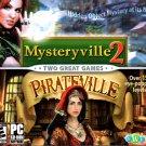 Mysteryville 2 & Pirateville PC-CD for Windows 98SE/ME/2K/XP/Vista - NEW in SLV