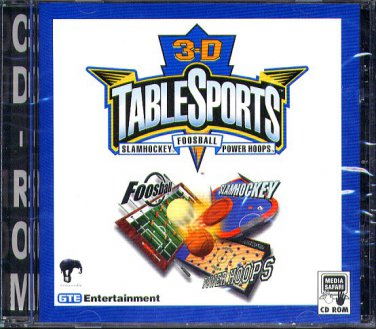 3-D Table Sports PC CD-ROM for DOS/Win95 - New in SLV