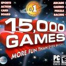 15,000 GAMES PC CD-ROM for Windows 98/Me/2K/Vista - NEW in Jewel Case