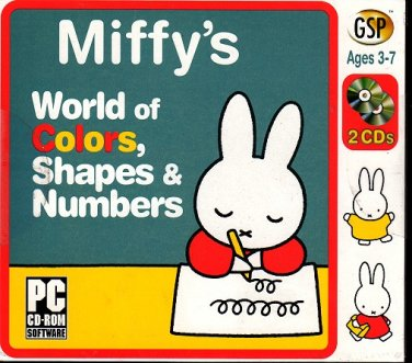 Miffy`s World of Colors, Shapes & Numbers (Ages 3-7) 2CDs Windows - NEW in JC