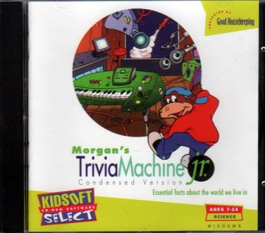 Morgan's TriviaMachine Jr. (Ages 7-14) PC-CD for Windows - NEW in JC