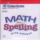 Math & Spelling with Monker (Ages 6-8) CD-ROM for Win/Mac - NEW in Retail Sleeve