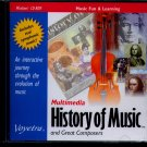 History of Music and Great Composers PC-CD Windows - NEW in JC