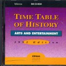 Time Table of History Arts & Entertainment (1992) CD-ROM for DOS - New in SLEEVE