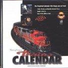 Trains CALENDAR CD-ROM for Windows - NEW CD in SLEEVE