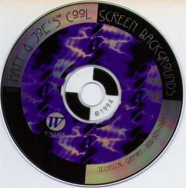 Matt & Joe's Cool Screen Backgrounds CD-ROM for Windows - NEW CD in SLEEVE