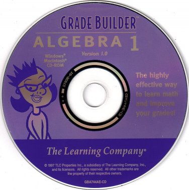 Grade Builder Algebra 1 CD-ROM for Win/Mac - NEW CD in SLEEVE