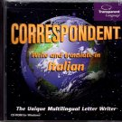 Correspondent - Write and Translate in Italian PC-CD Windows - NEW CD in SLEEVE