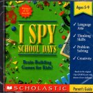 I SPY SCHOOL DAYS (Ages 5-9) CD-ROM for Win/Mac - NEW CD in SLEEVE