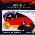 EuroTalk GLOBAL GERMAN Intermediate Level CD-ROM for Win/Mac - NEW CD in SLEEVE