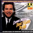 Dennis Miller: THAT'S GEEK TO ME CD-ROM for Win/Mac - New CD in SLEEVE