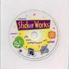 Sticker Works CD-ROM for Windows - NEW CD in SLEEVE