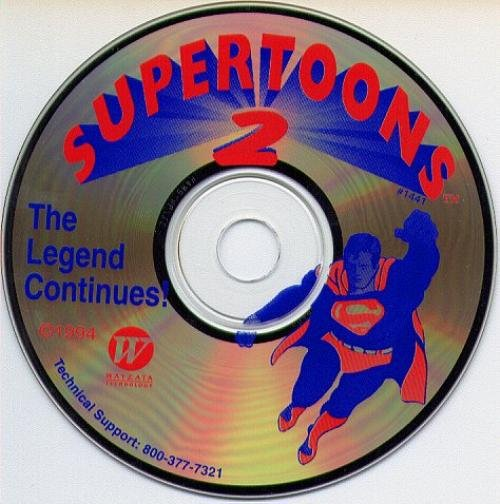 SuperToons 2 CD-ROM for Win/Mac - NEW CD in SLEEVE