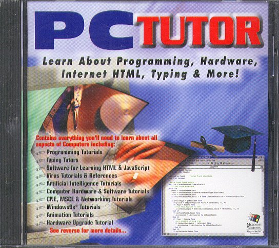 PC TUTOR CD-ROM for Windows 95/98/NT - NEW CD in SLEEVE