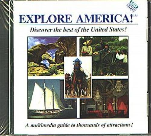 EXPLORE AMERICA! CD-ROM for Windows - NEW CD in SLEEVE