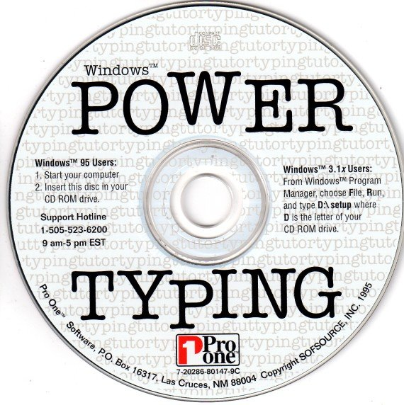 Power Typing for Windows CD-ROM Windows - NEW CD in SLEEVE