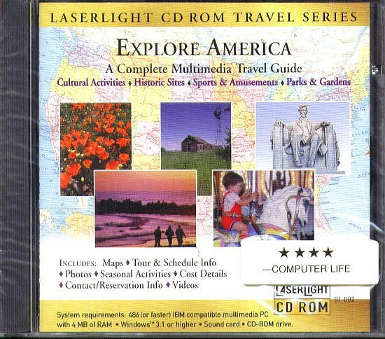 Explore America CD-ROM for Windows - NEW CD in SLEEVE