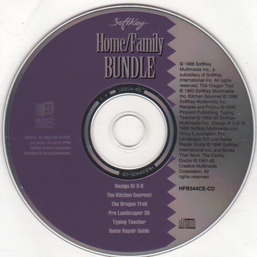 Softkey Home/Family Bundle (6 Titles) CD-ROM for Windows - NEW CD in SLEEVE