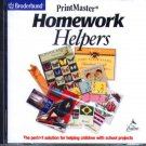 PrintMaster Homework Helpers CD-ROM for Windows - NEW CD in SLEEVE