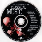 An Introduction to Classical Music CD-ROM Windows - NEW CD in SLEEVE