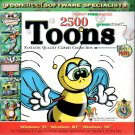 2500 Toons CD-ROM for Windows - NEW CD in SLEEVE