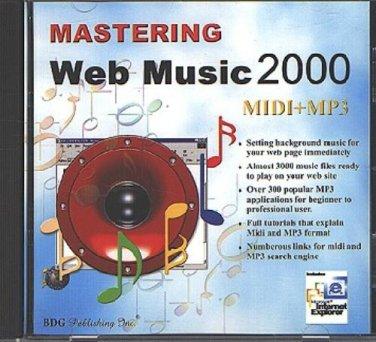 Mastering Web Music 2000 CD-ROM for Windows - NEW CD in SLEEVE