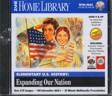 Elementary US History: Expanding Our Nation CD-ROM for Win/Mac -NEW CD in SLEEVE