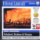 Great Composers: Schubert, Brahms & Strauss CD-ROM Win/Mac - NEW CD in SLEEVE