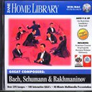 Great Composers: Bach, Schumann & Rakhmaninov CD-ROM Win/Mac - NEW CD in SLEEVE