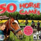 50 Horse Games PC CD-ROM for Windows 98SE/Me/2000/XP/Vista - NEW in Jewel Case