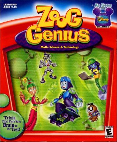 Disney's Zoog Genius (Age 9-12) CD-ROM for Win/Mac - NEW in BOX