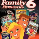 Family Fireworks 6 Pack (6 Games) DVD-ROM for Windows XP/Vista - NEW in DVD BOX