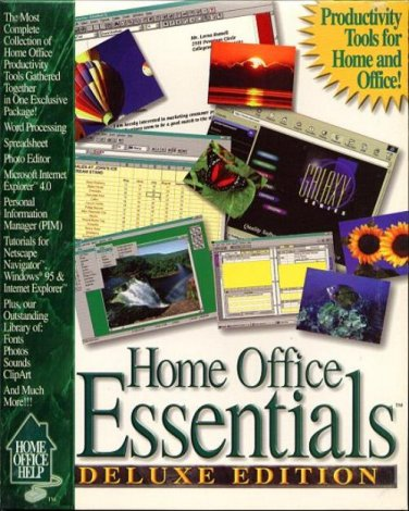 Home Office Essentials Deluxe (PC-CD, 1997) for Windows - NEW CD in SLEEVE