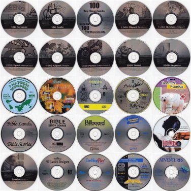 Choose 24 from 150 Productivity Titles (Below $1.50 ea) w/FREE 24 CD/DVD Wallet!