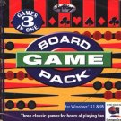 BOARD GAME PACK (PC-CD, 1997) for Windows - NEW CD in SLEEVE