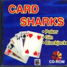 Card Sharks: Ultimate Baccarat, Poker & Gin (PC-CD, 1995) Win/DOS -NEW in SLEEVE