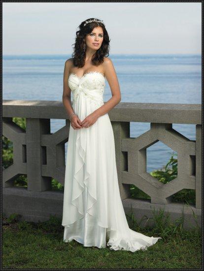 Sexy Wedding Dress Bridesmaid halter Bridal Gown Custom N00004