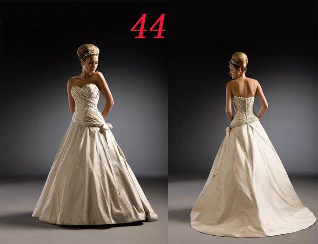 Sexy A LINE STYLE Wedding Dress Bridesmaid Bridal Gown Custom